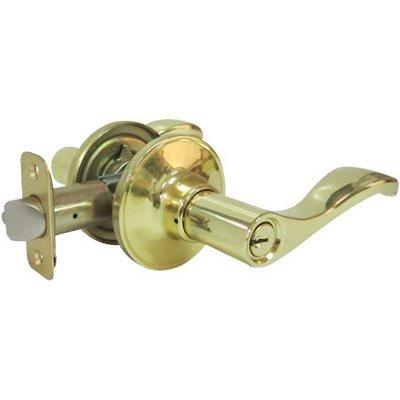 - Tru-Guard Taiwan Fu Hsing Industrial LYE700B KA2 Reversible Naples Entry Lever Lockset, Polished Brass - Quantity 2