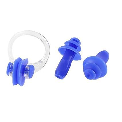 eDealMax Herramienta de Guardia de silicona Suave Piscina tapones Para Los oídos Clip de la nariz
