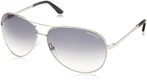 Tom Ford Charles FT0035 Sunglasses-753 Palladium (Grad Dark Gray - White Tom Sunglasses Ford