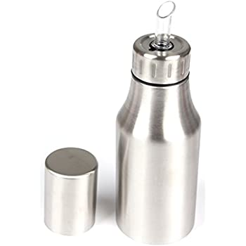 hierkryst stainless steel oil dispenser container for cooking measure kitchen oil. Black Bedroom Furniture Sets. Home Design Ideas