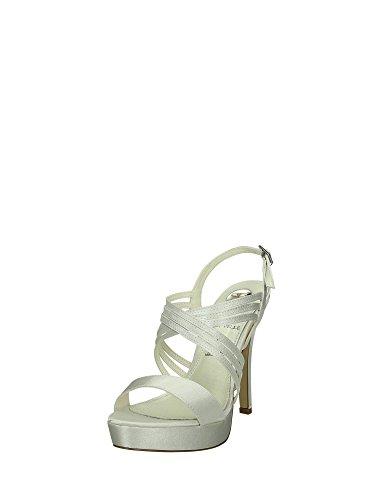 0407 Mesetas Mujer O6 Sandalias Blanco Y Tacones qdvnPzUwxn