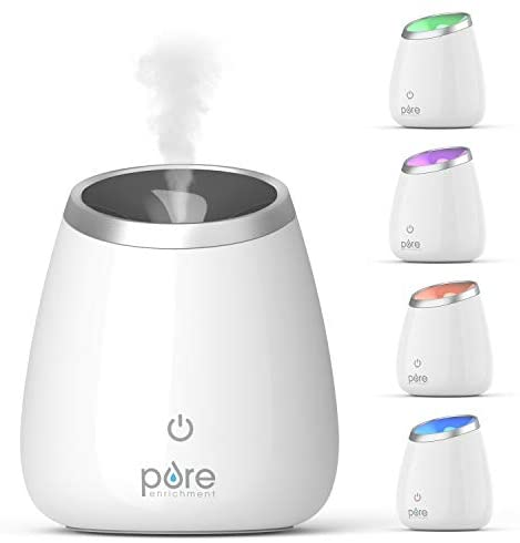 Pure Enrichment PureSpa Deluxe Ultrasonic Aromatherapy Oil Diffuser - 120ml Water Tank, Mood-Boosting Ionizer and Optional Color-Changing Light - Lasts Up to 10 Hours with Auto Safety Shut-Off 141[並行輸入]