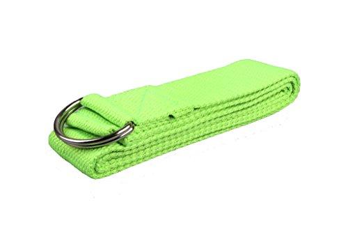 DODOING Fitness Exercise Yoga Stretch Strap Band D-Ring Belt Gym Waist Leg Fitness 180CM Adjustable Belt