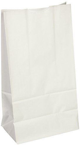 "Rainbow Kraft Bags, 6""X11"", White, 50 Bags"