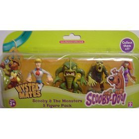 Scooby Doo Mystery Mates (Scooby Doo Mystery Mates : Scooby and the Monsters 5 Figure Collectable Pack - Sherlock Scooby, Fred, Beast of the Bottomless Lake, Zombie, Daphne)