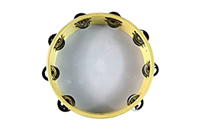 """Tambourine 10"""" Dove Bible Double Row Jingle Percussion Instrument for Church by Zebra Sounds"""