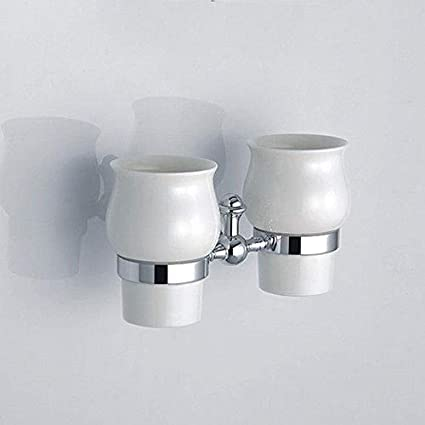 Usopu Accesorios de baño del Cepillo de Dientes de la Porcelana de Cromo y de la
