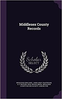 Book Middlesex County Records