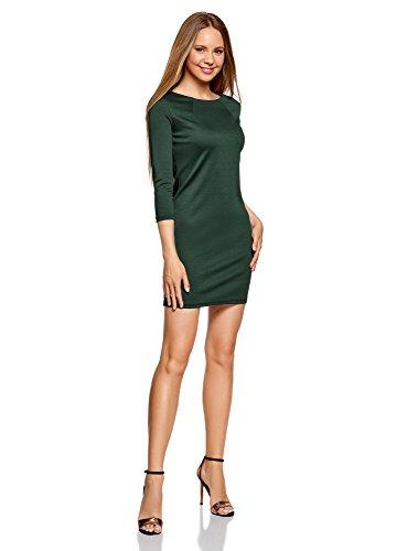 oodji Ultra Mujer Vestido con Decoración Metálica en los Hombros Verde (6E00N)
