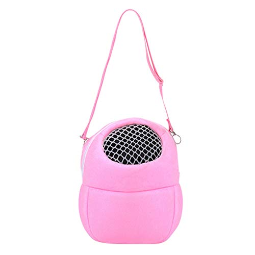 FidgetKute Small Animal Carrier Bag Hamster Chinchilla Travel Bag Guinea Pig Pouch Bed USA Pink S from FidgetKute