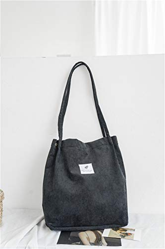main noir nouveaux femmes en sacs sac LANDONA portable réutilisable livres épaule étudiants pliable toile de petites coréennes sac portent des littéraires de wH1nI8nq