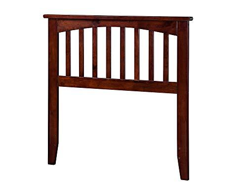 Style Headboard Mission Wood (Atlantic Furniture Mission Headboard, Twin, Antique Walnut)