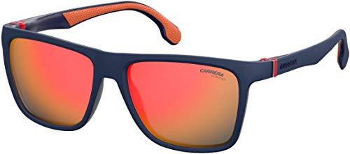 Carrera Men's Carrera 5047/s Square Sunglasses, Matte Blue, 56 mm (Carrera Sonnenbrillen Garantie)