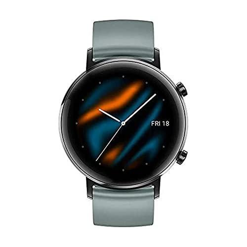 chollos oferta descuentos barato Huawei Watch GT 2 Sport Smartwatch con Caja de 42 mm Hasta 1 Semana de Batería Pantalla táctil AMOLED 1 2 GPS 15 Modos Deportivos Pantalla 3D de Cristal Gris Lake Cyan