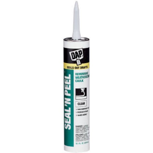 Dap 18354 Seal 'N Peel Removable Caulk, ()