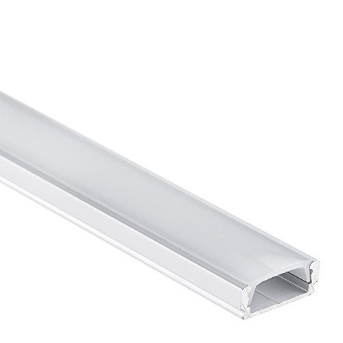 LED Aluminium Profil PL1 Anser 2 Meter für Streifen plus Abdeckung Opal Aluprofil