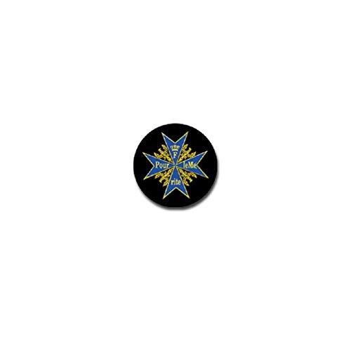 Pour le Mérite French Order Valor Merit Award Kingdom of Prussia Frederick II military badge emblem for Audi A3 BMW VW Golf GTI Mercedes (7x7cm) - Sticker Wall Decoration