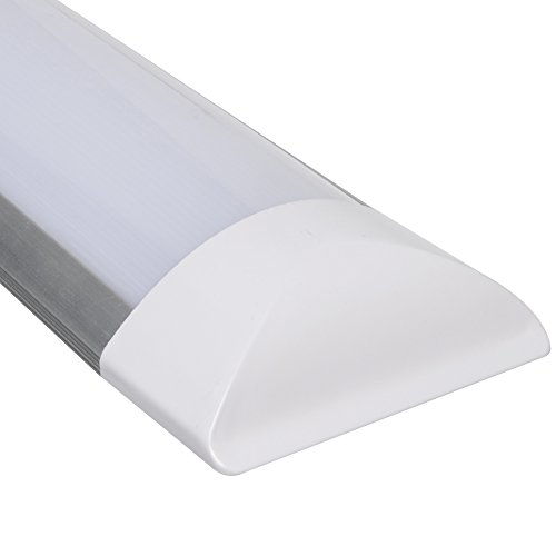 6er Pack 1200mm (4ft) 36W LED Batten with 3000 lm, 160¡ã, 6000K, Ceiling and Wall Surface Mount Linear Lights by Excellent (Image #4)'