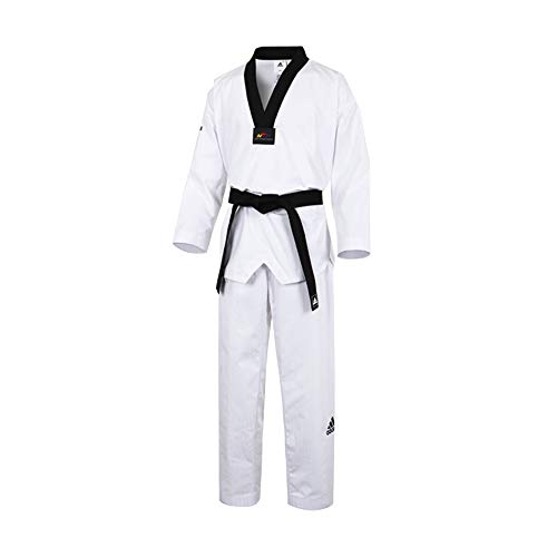 Col Noir Aditf02 Dobok black V W White Fighter Adidas neck EOTPnp4qE
