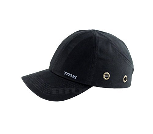 Titus Lightweight Safety Bump Cap - Baseball Style Protective Hat (Black) by TITUS CSE