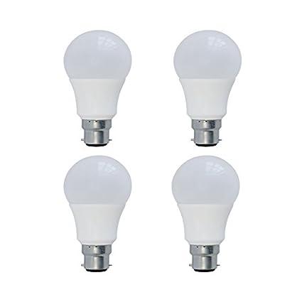 Syska SSK-PAG-N-9W-Base B22 9-Watt LED Bulb (Pack of 4, White) LED Bulbs at amazon