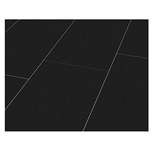 Westco H474420 8mm Glossy Laminate Tile Effect Flooring Plank - Black by Westco