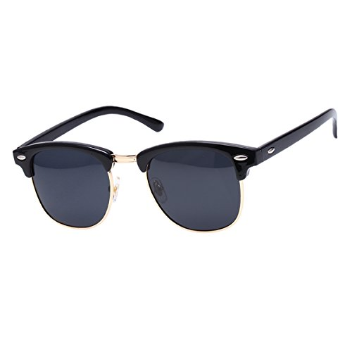 GUVIVI Neutral Retro Border Polarized Sunglasses - Sungalsses Mens