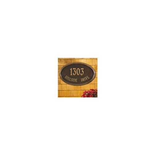 Whitehall Concord Oval Wall Plaque-Engraving, Gift, Garden, Home,Wedding,Address by Whitehall (Image #5)