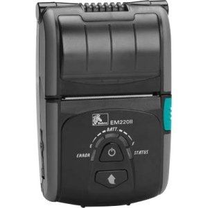 Printers Zebra Portable (Zebra EM220II Direct Thermal Printer - Monochrome - Portable - Receipt Print W2B-0UB00010-00)