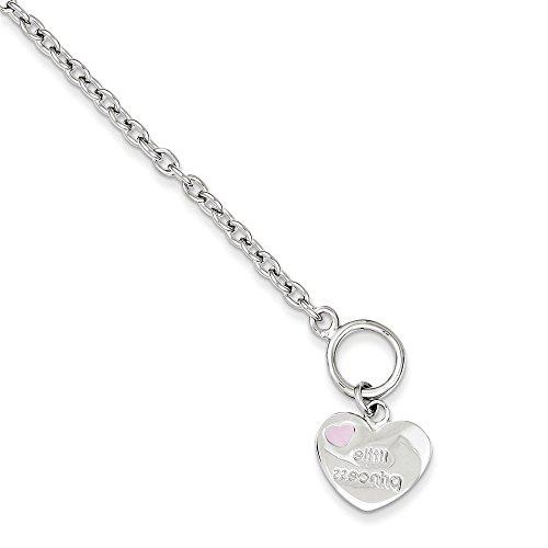 Sterling Silver Childs Heart Bracelet