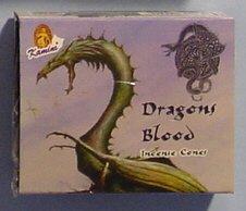Dragon's Blood Cones - Kamini Incense - Box of 10