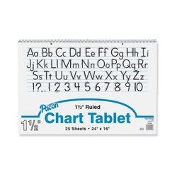 Pacon Corporation Chart Tablet, Manuscript Cover, 1-1/2'' Ruled, 24''x16'', 25 Sh, WE