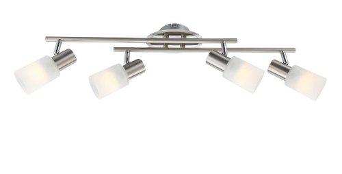Trendig LED Deckenstrahler 4 flammig Decken Spot Metall Spots beweglich  WO44