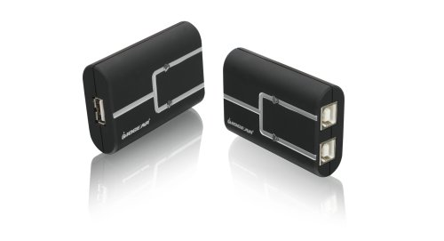 IOGEAR 2-Port USB 2.0 Printer Auto Sharing Switch GUB211 (Black)