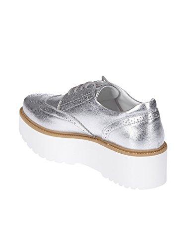 HXW3550AB00MECB200 Plata Hogan Cuero Zapatos Mujer Cordones De 5Zaqn80B
