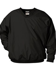 Badger Sportswear Men's V-Neck Windshirt, black, X-Large