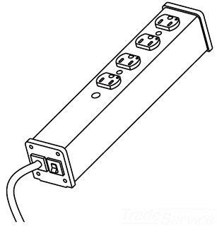 Cablestogo Wiremold Plug-In Center Unit Medical Gr