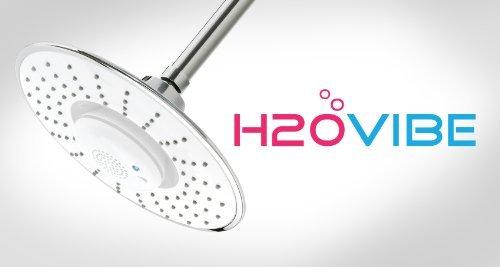 H2oVibe Rain Showerhead Jet with Wireless Bluetooth Speaker - Polished Chrome