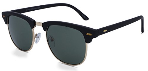 Designer Sunglasses Club Master Square Hipster (Black Forest - Sunglasses Vintage York New