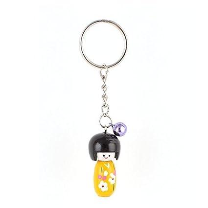 Amazon.com : eDealMax Muñeca japonesa amarilla colgante de ...