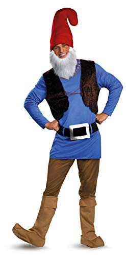 Plus Size Biker Halloween Costumes (Disguise Men's Papa Gnome Costume, Blue/Brown/Red,)