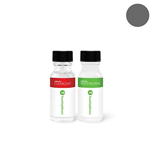 TouchUpDirect Exact Match Automotive Touch Up Paint Compatible with Tesla Dolphin Grey Metallic (PMTG) Jar - Essential Package