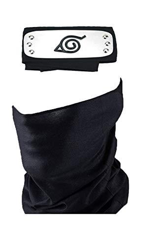 (Cosplay Accessories Leaf Village Headband and Unisex Hatake Kakashi Cosplay Mask Veil)