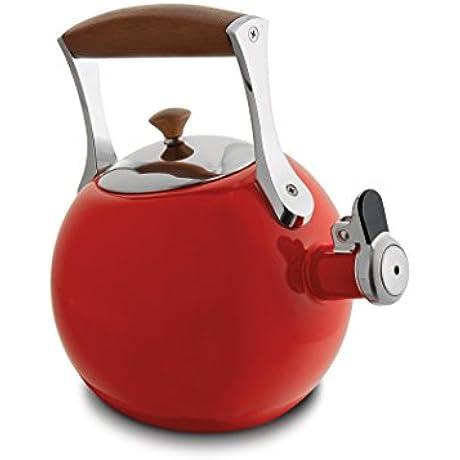 Nambe MT0890 Tea Kettle Red