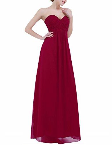 73fb5772ed6c ... YiZYiF Elegant Damen Kleider lange Abendkleid festliche Hochzeit Party  Herzausschnitt Cocktailkleid Chiffon Brautjungfernkleider Abschlussball  Kleider ...