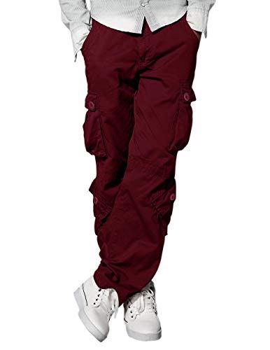 Match Men's Wild Cargo Pants(Red,32)