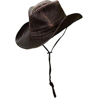 0204569c075 Weathered Cotton Outback Hat - Brown