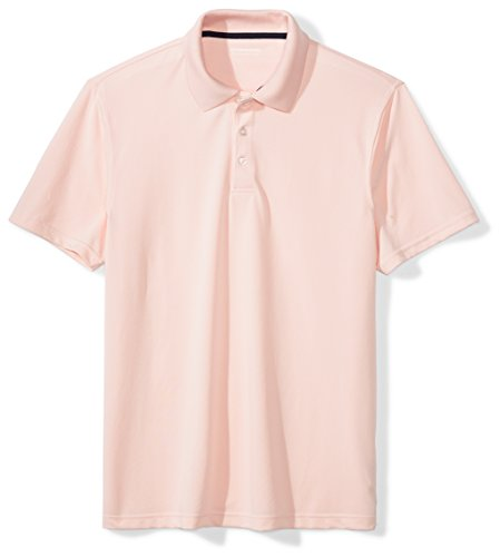 (Amazon Essentials Men's Slim-Fit Quick-Dry Golf Polo Shirt, Light Pink, XX-Large)