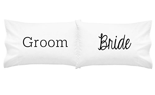 - Oh, Susannah Bride and Groom Couples Pillowcases His and Hers Matching Wedding Gift (Two 20x30 Standard/Queen Size Pillow Case) Girlfriend Gifts