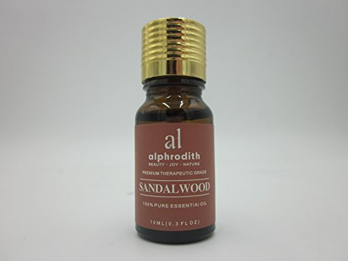 Premium Aromatherapy Sandalwood Essential Oil 100% Organic Pure Undiluted Therapeutic Grade Scented Oils - 10ml for Diffuser, Relaxation, Skin Therapy & More